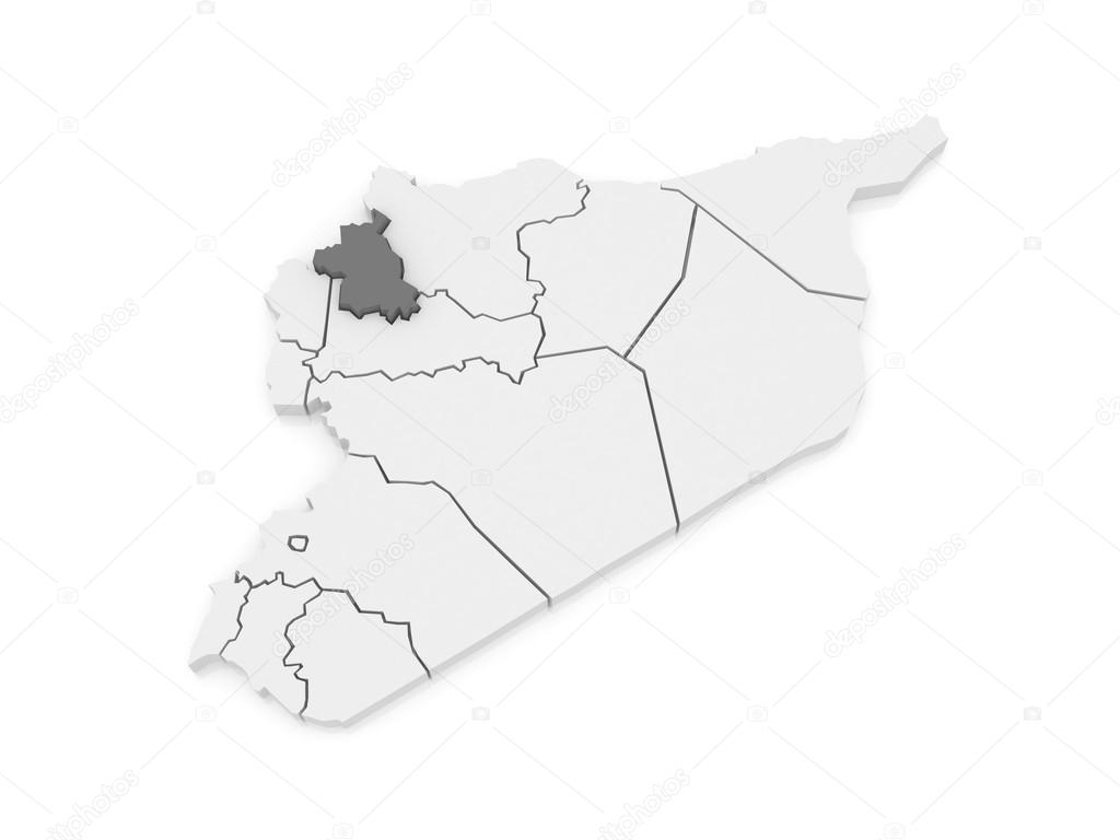 Map of Idlib Syria Stock Photo Tatiana53 62220315