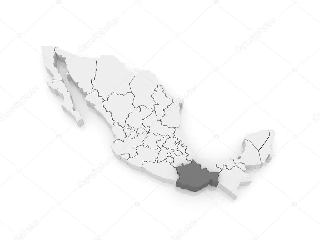 map of oaxaca mexico 3d photo by tatiana53