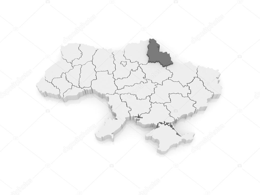 Map of Sumy region Ukraine Stock Photo Tatiana53 62220945