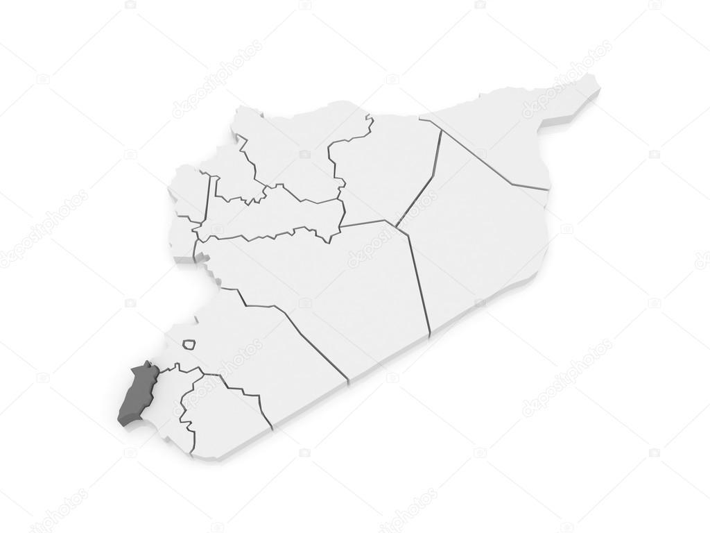 Map of Quneitra. Syria. — Stock Photo © Tatiana53 #62221947
