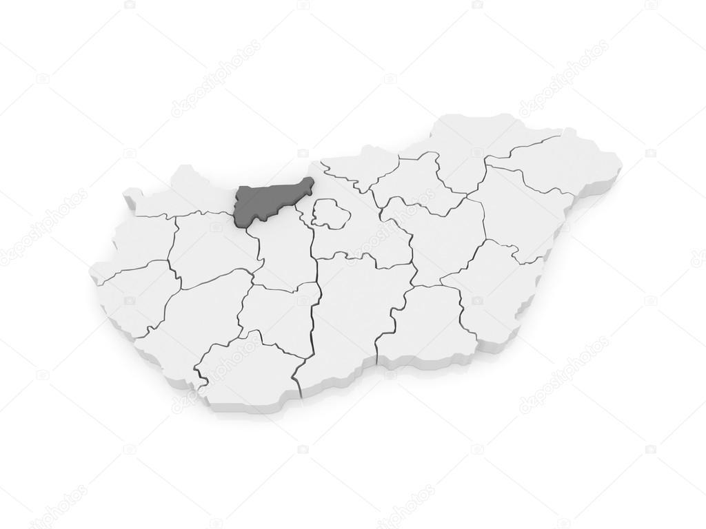 esztergom térkép letöltés Komárom esztergom Térkép. Magyarország — Stock Fotó © Tatiana53  esztergom térkép letöltés
