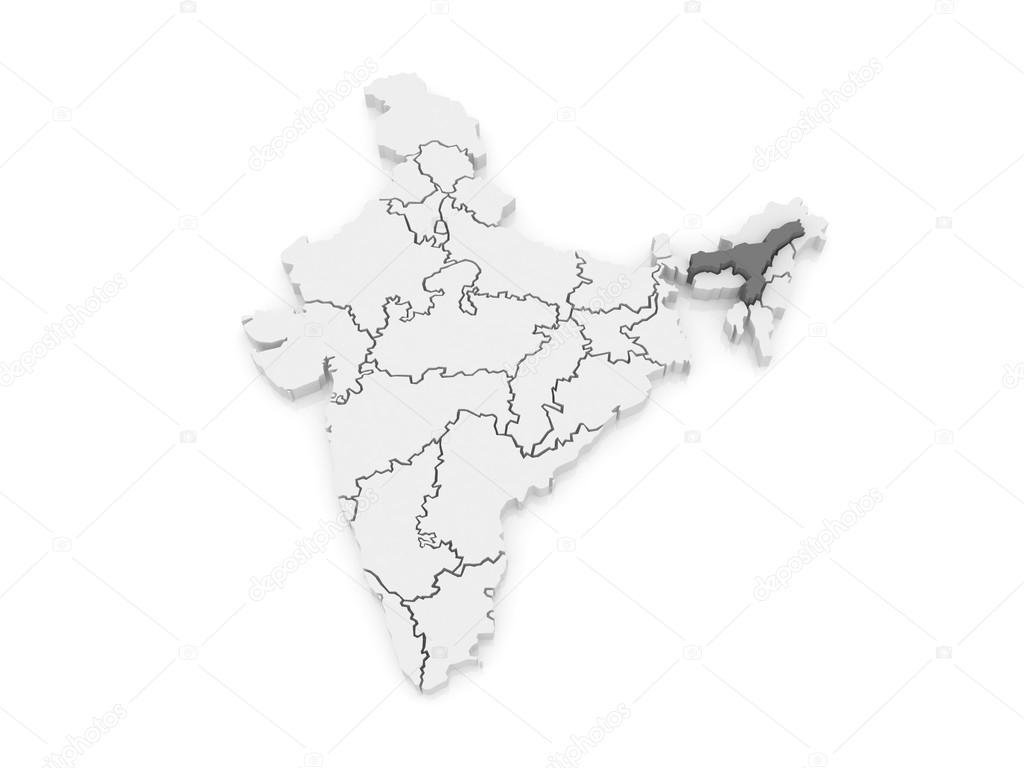 Map Of Assam India Stock Photo C Tatiana53 62222451