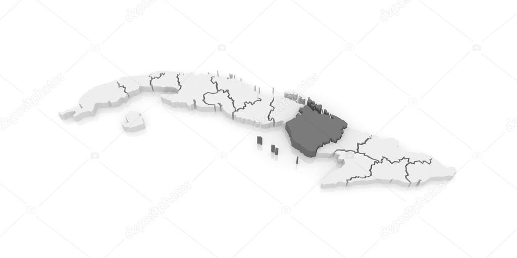 Map of Camaguey Cuba Stock Photo Tatiana53 62222471