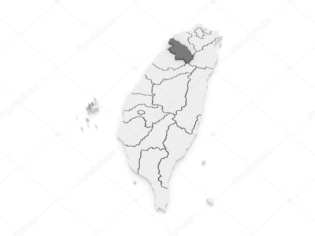 Map of Hsinchu County. Taiwan. — Stock Photo © Tatiana53 #62222503