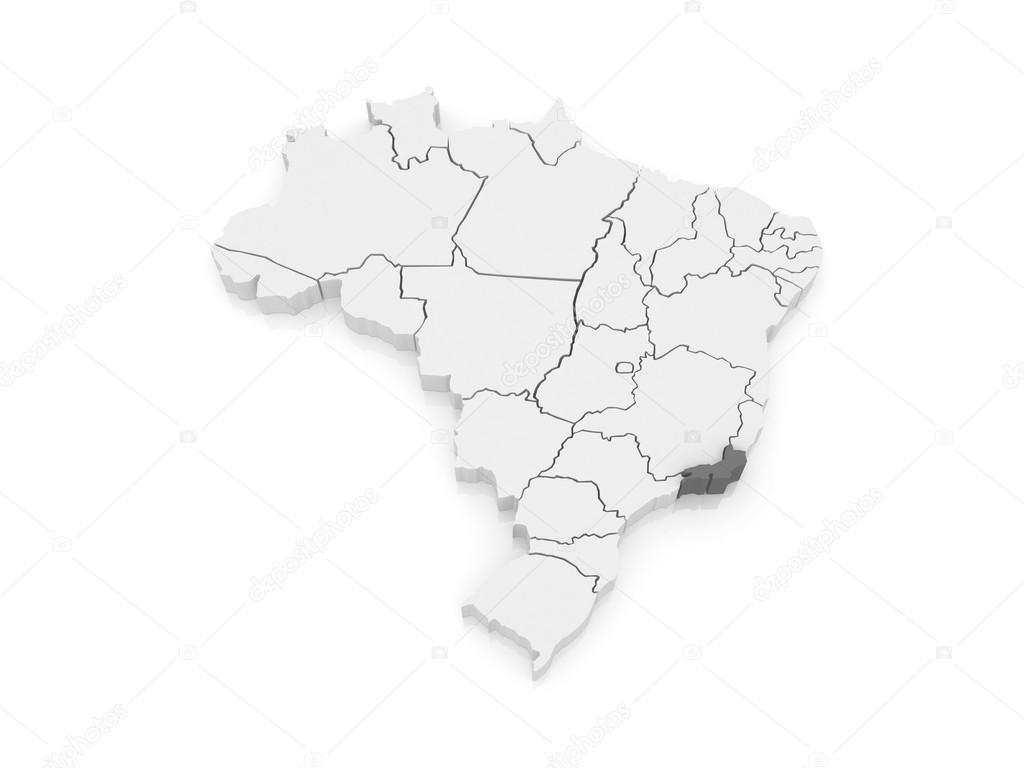Rio De Janeiro Karte.Karte Von Rio De Janeiro Brazilien Stockfoto C Tatiana53