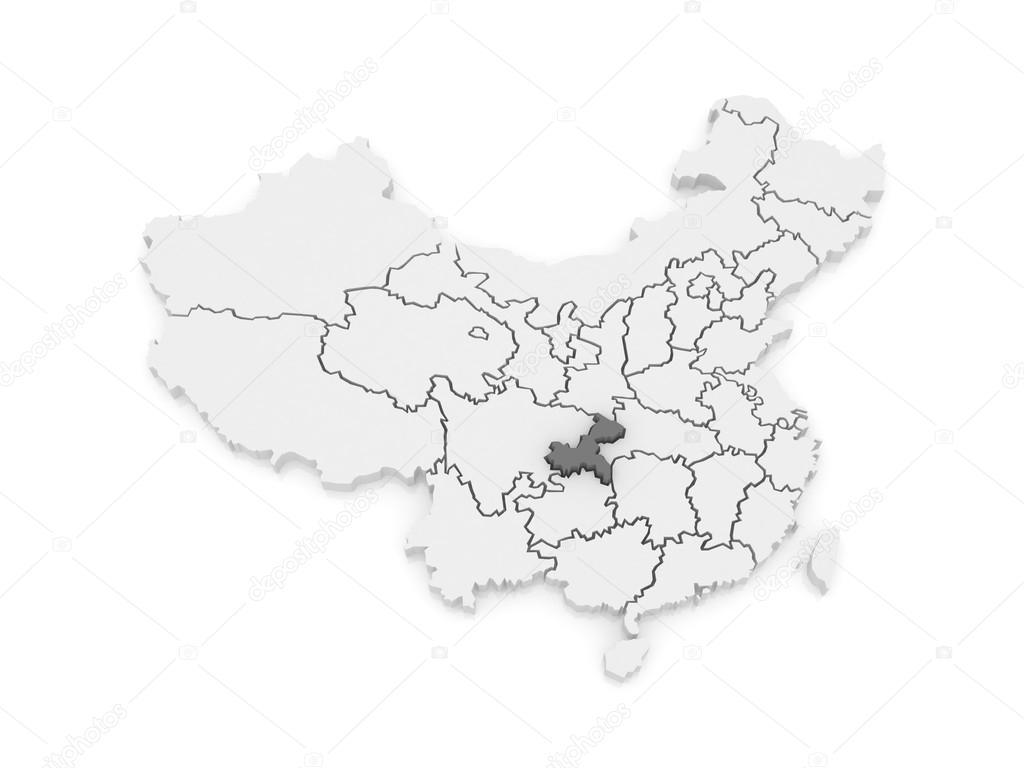 Map of Chongqing China Stock Photo Tatiana53 62222715