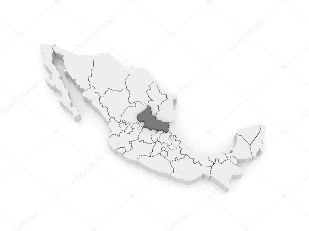 Map Of San Luis Potosi Mexico Stock Photo C Tatiana53 62222949