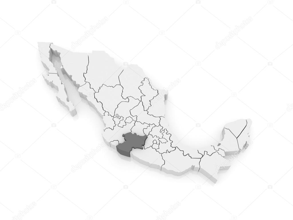 Map of Michoacan. Mexico — Stock Photo © Tatiana53 #62223281