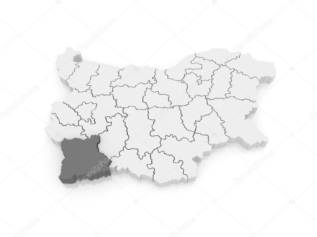 Karta Provincii Blagoevgrad Bolgariya Stokovoe Foto C Tatiana53