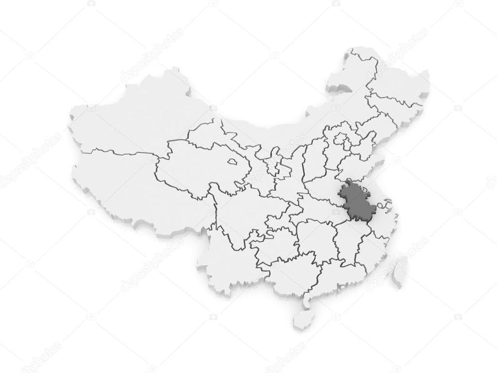 Map Of Anhui China Stock Photo C Tatiana53 62223371