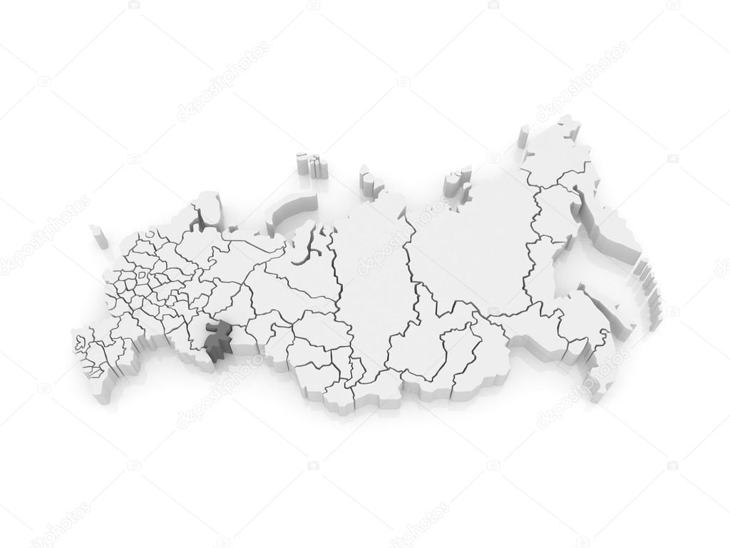 Map of the Russian Federation Chelyabinsk region Stock Photo