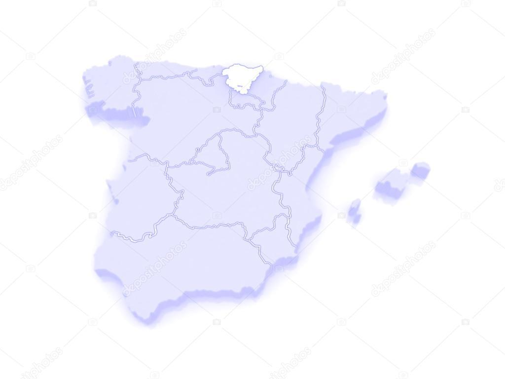 Map Of Basque Country Spain Stock Photo C Tatiana53 62399117