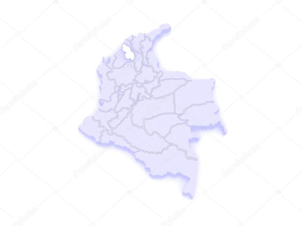 Map of Sucre Colombia Stock Photo Tatiana53 62399151