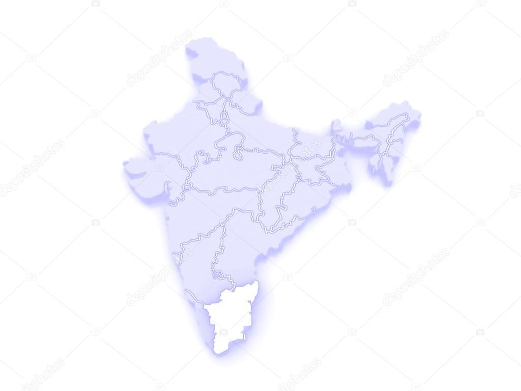Map of tamil nadu india stock photo tatiana53 62399555 map of tamil nadu india 3d photo by tatiana53 gumiabroncs Gallery