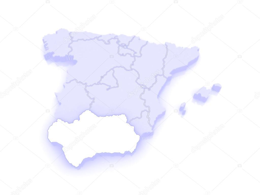 Carte Espagne Hd.Carte De L Andalousie Espagne Photographie Tatiana53 C 62399587