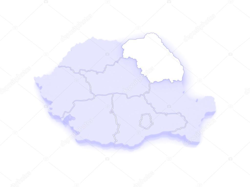 Map of Northeast Region Development Romania. — Stock Photo ...