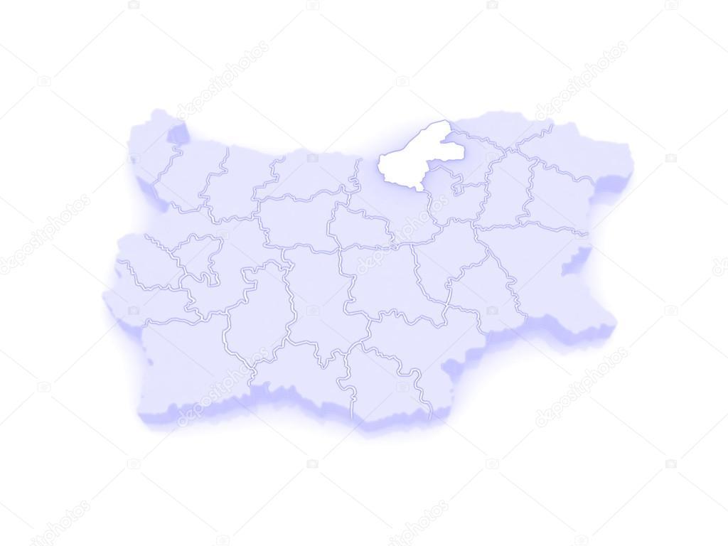 Map of Ruse region Bulgaria Stock Photo Tatiana53 62401193