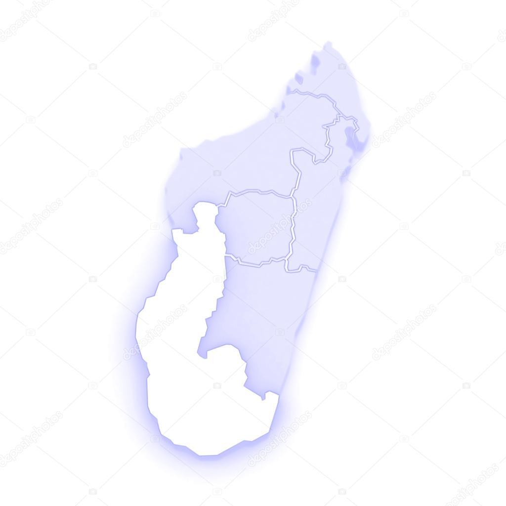 Map of Toliara. Madagascar. — Stock Photo © Tatiana53 #62401295