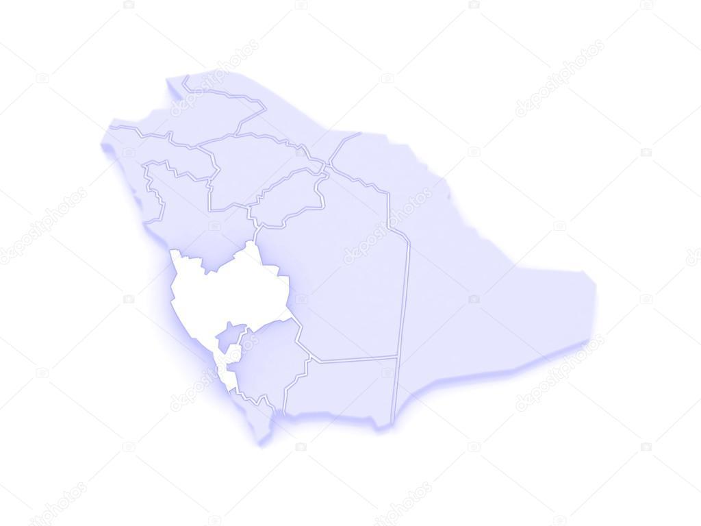Map of Mecca. Saudi Arabia. — Stock Photo © Tatiana53 #62401365