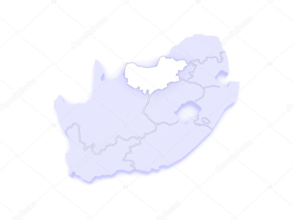 South Africa North West Map.Map Of North West Mafikeng South Africa Stock Photo