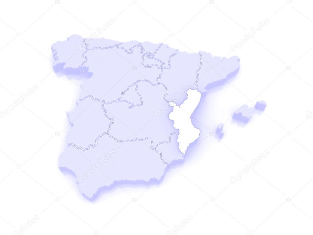 Karta Nordostra Spanien.Karta Over Valencia Spanien Stockfotografi C Tatiana53 62401947