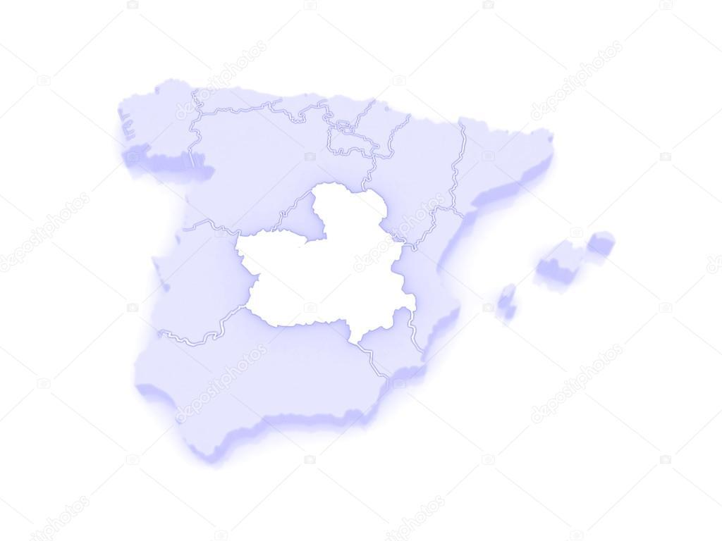 La Mancha Spain Map.Map Of Castilla La Mancha Spain Stock Photo C Tatiana53 62402263