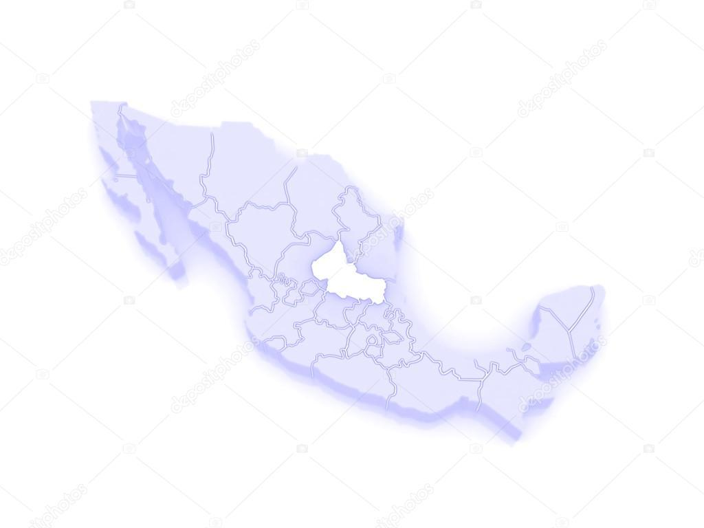 Map Of San Luis Potosi Mexico Stock Photo C Tatiana53 62404697