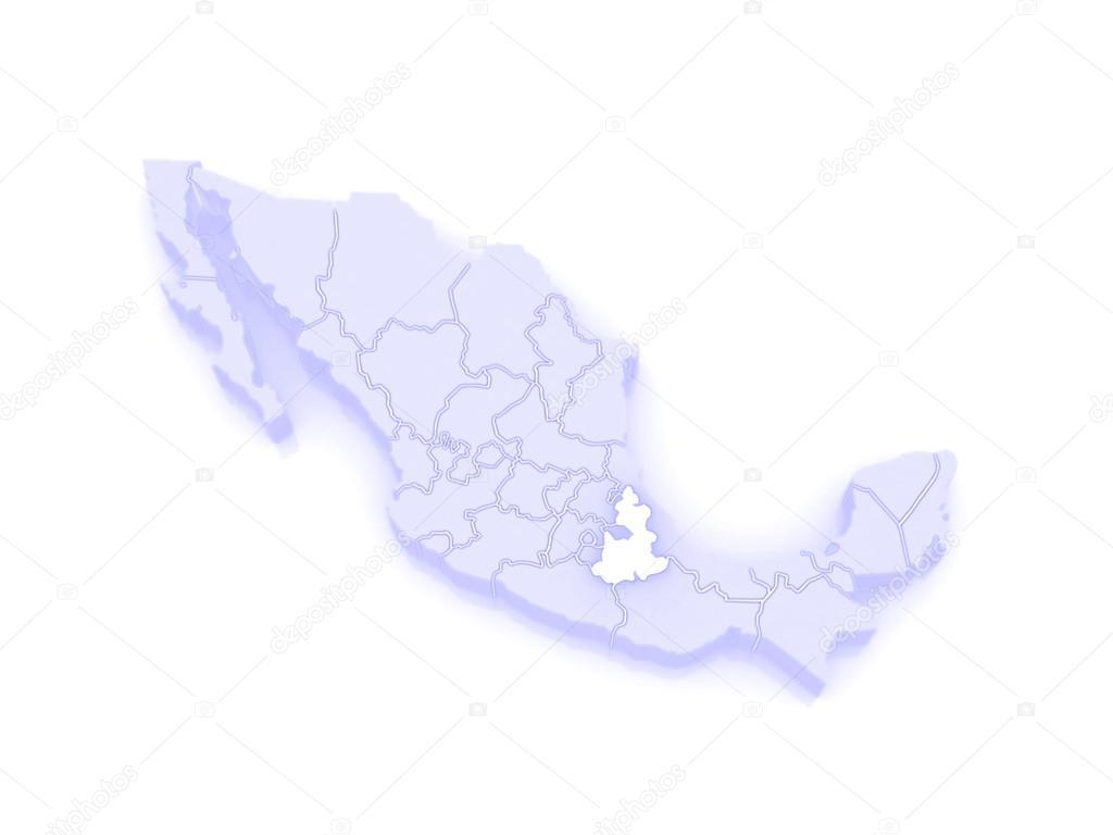 Map Of Puebla Mexico Stock Photo C Tatiana53 62404835