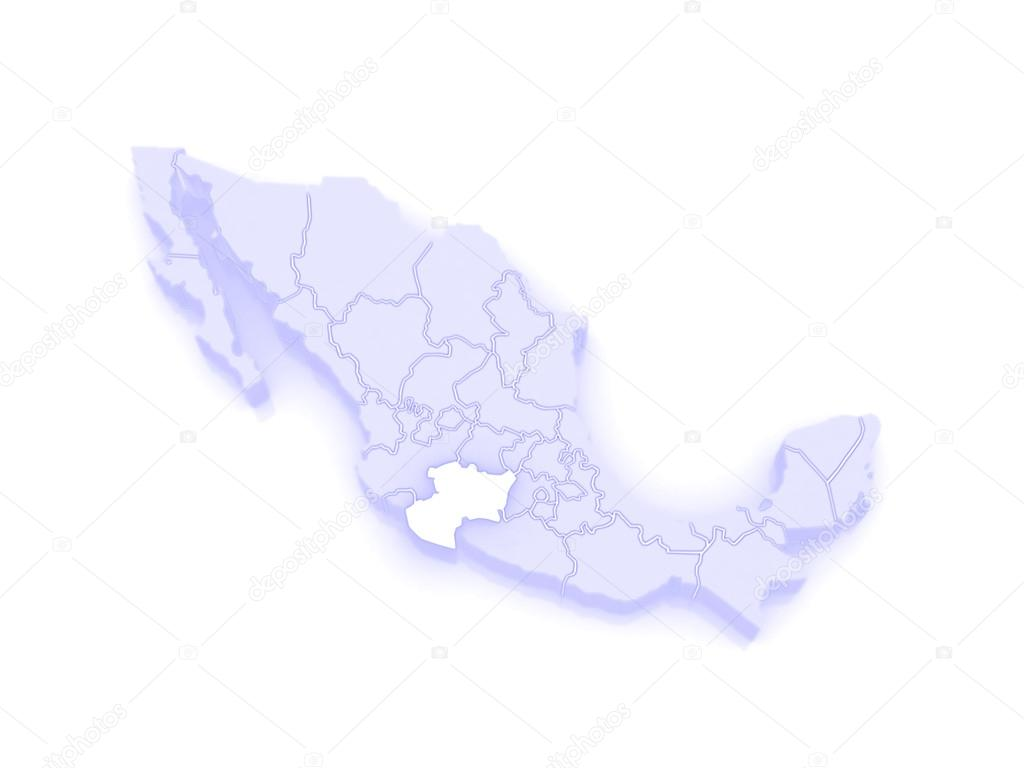 Map of Michoacan. Mexico — Stock Photo © Tatiana53 #62405261