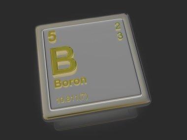 Boron. Chemical element.