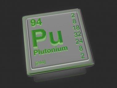 Plutonium. Chemical element.