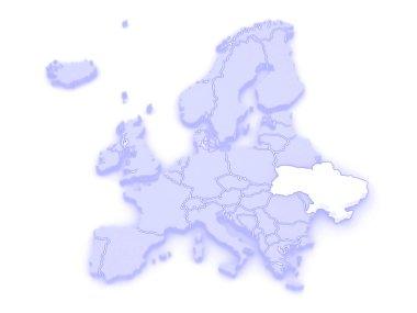 Map of Europe and Ukraine.