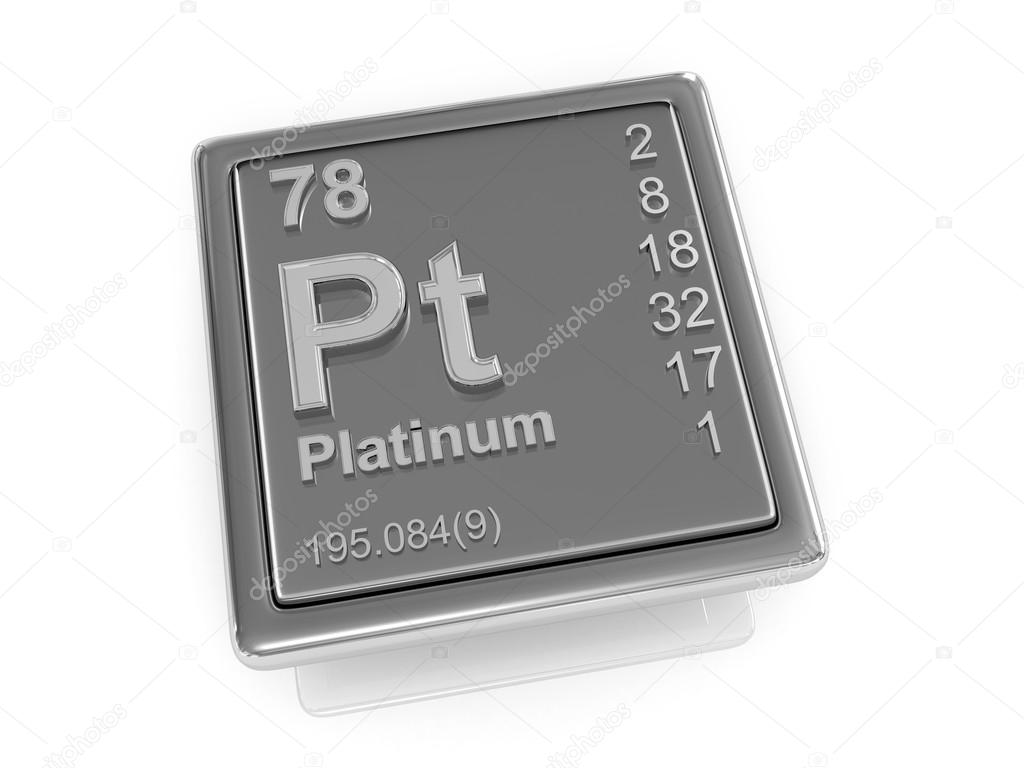 Platinum Chemical Element Stock Photo Tatiana53 65818817