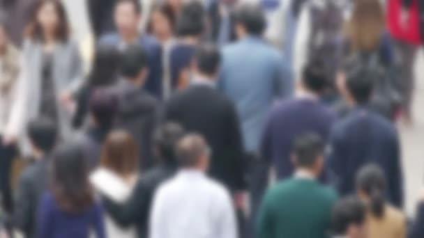 De Focused Crowd In The Asian city.