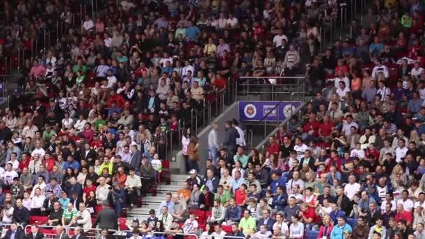 wilden Fans bei Sportveranstaltung
