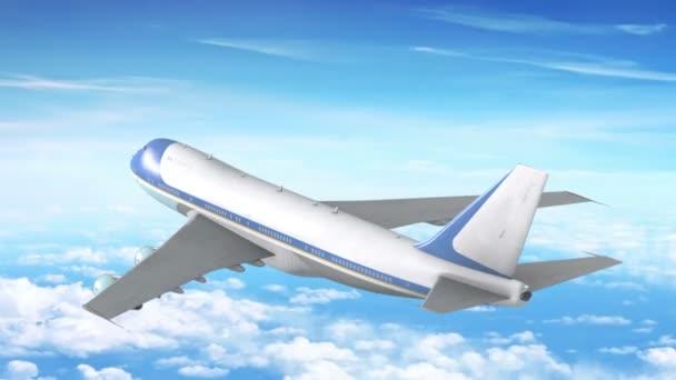letadlo letí nad mraky