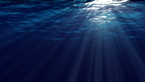 Animation of ocean waves from underwater.  Marine background.