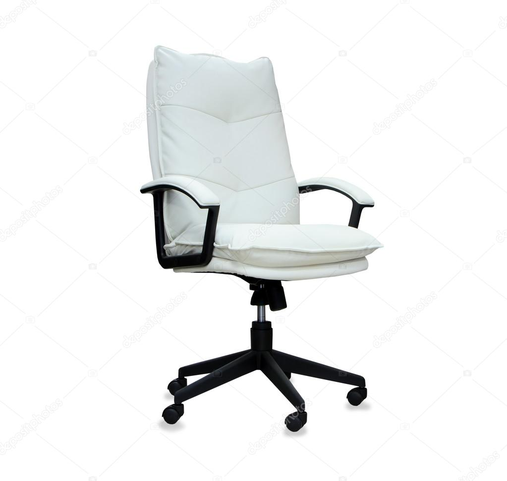 Sedia pelle bianca ufficio   Wastepipes