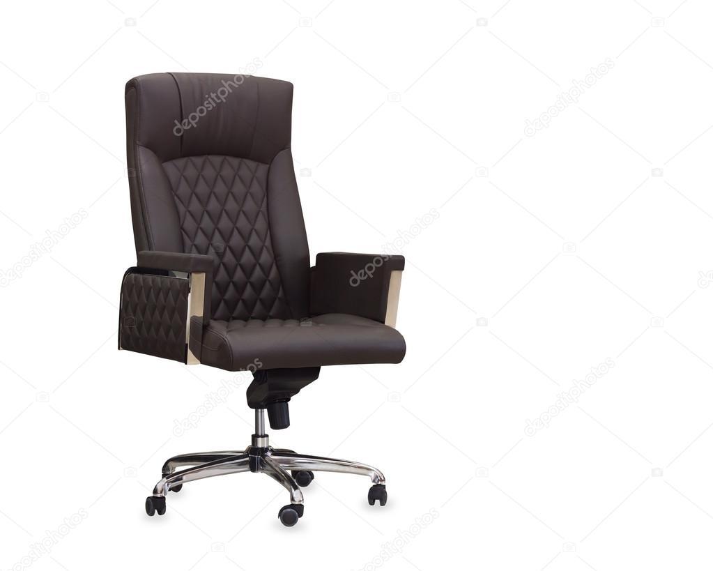 Sedie Da Ufficio In Pelle : La sedia da ufficio in pelle marrone. isolato u2014 foto stock