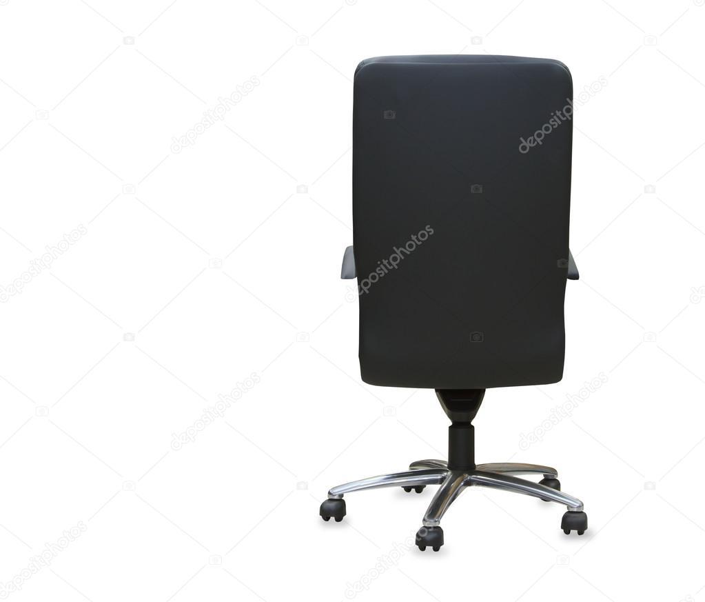 Moderne Bürostühle rückansicht des modernen bürostuhl aus schwarzem leder isoliert