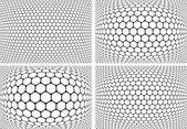 Sechsecke Muster. Hintergründe der geometrischen Reihe