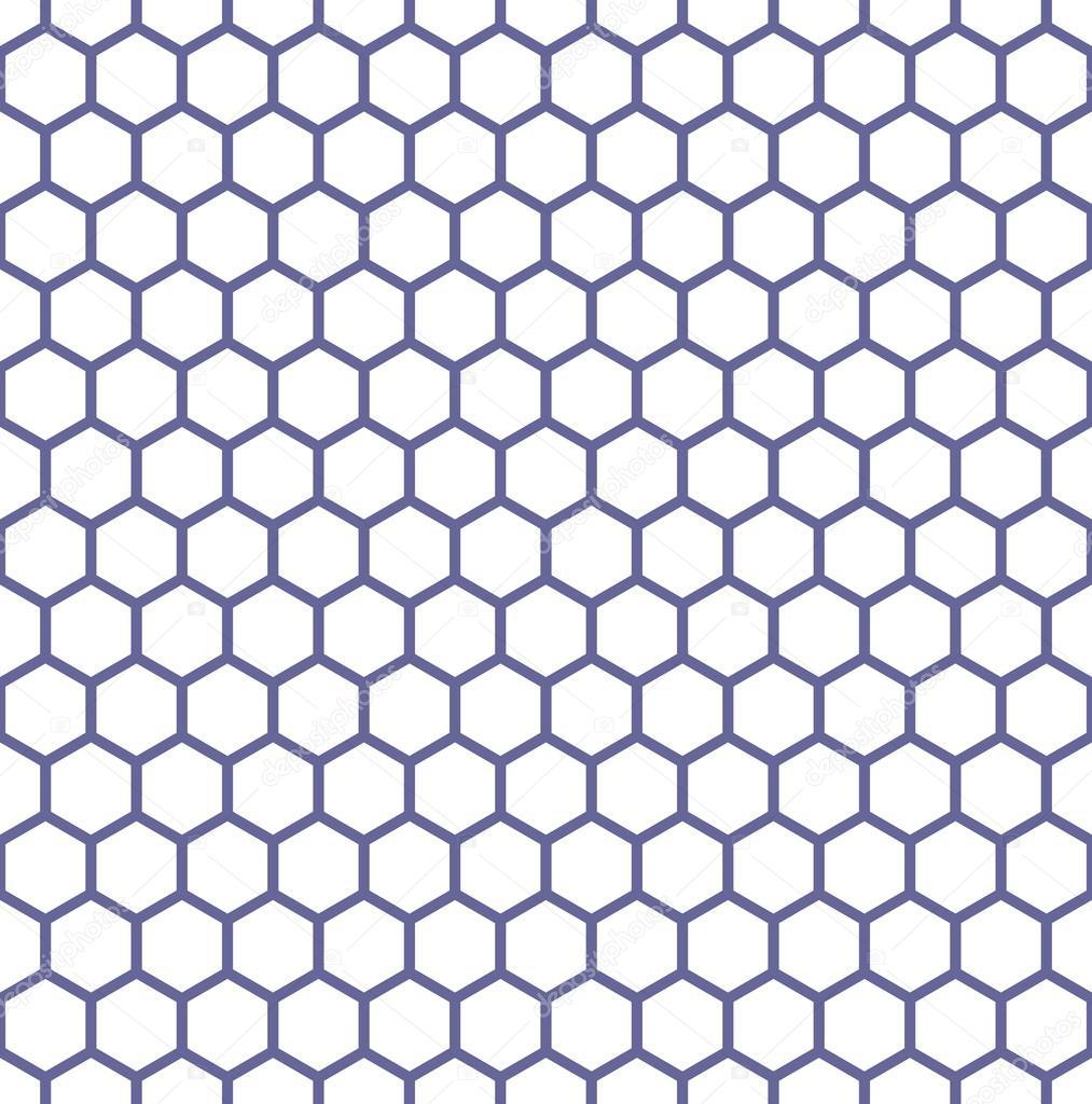 textura perfecta hexágonos. patrón del panal — Vector de stock ...