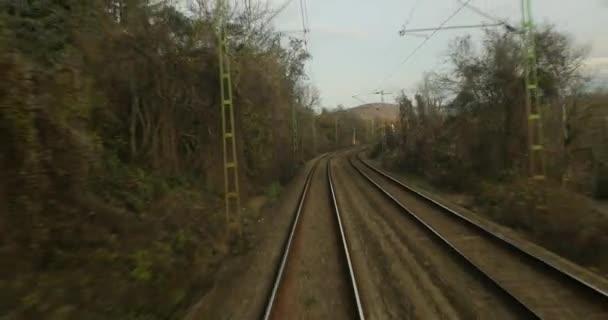 Pohled zezadu na koleje