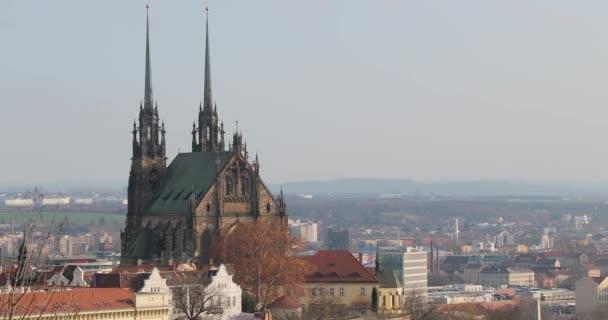 Brno pohled na město Petrovův kostel