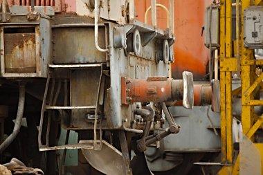 Abandoned railway vehicles
