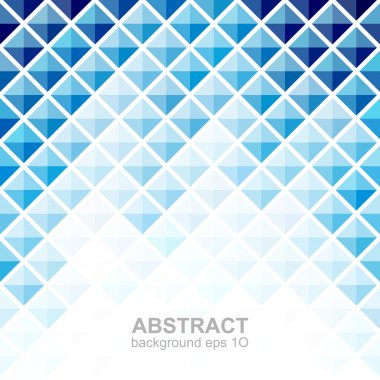 Abstract blue square pattern background. Vector illustration stock vector