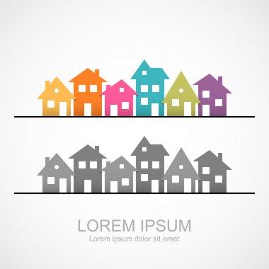Suburban homes icon