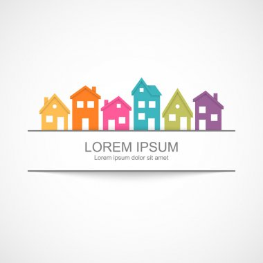 Suburban homes icon. Vector illustration Eps 10 stock vector
