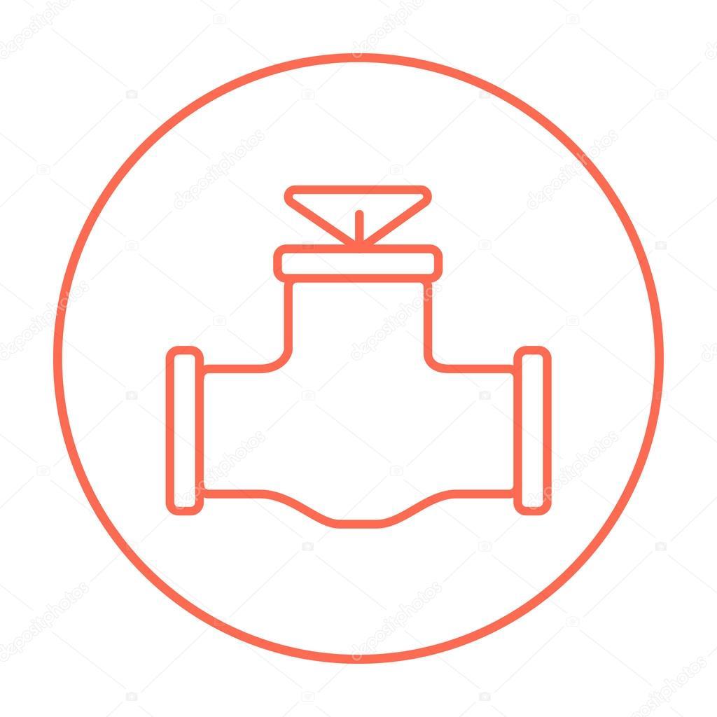 Gas Pipe Valve Line Icon Stock Vector Rastudio 103041168