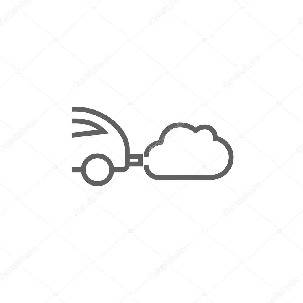 auto spucken umweltsch u00e4dliche abgase symbol  u2014 stockvektor  u00a9 rastudio  103390670